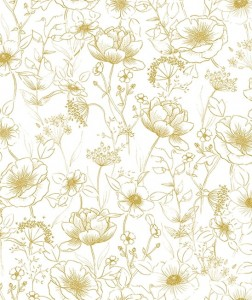 Tapeta Flowers, Botany Gold Lilipinso