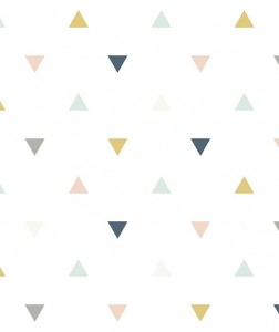 Tapeta Triangles Pink, Mustard, Gray Lilipinso