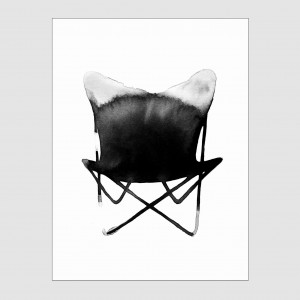 Plakat Butterfly Chair Magdalena Tyboni