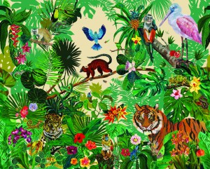 Mural Nathalie Lete Jungle Day Domestic