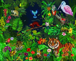 Mural Nathalie Lete Jungle Night Domestic